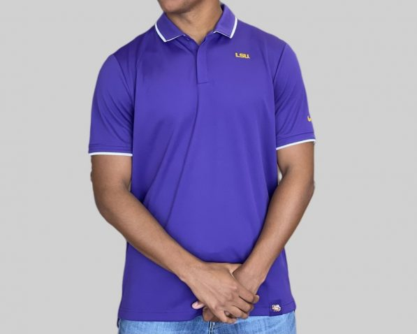 A sophisticated yet sporty polo that proudly represents your loyalty to the LSU Tigers. Price: $50. Brand: Nike