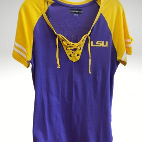 A casual and comfortable shirt that proudly represents your tigers. Price: $34.99. Brand: 5th & Ocean. 100% Cotton