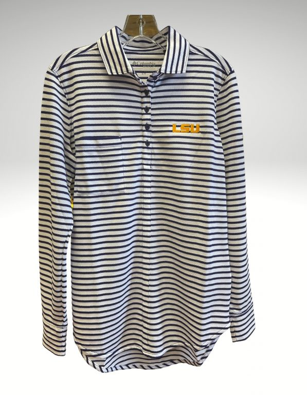 A casual and comfortable shirt that proudly represents your tigers. Price: $70. Brand: Columbia. 100% Polyester