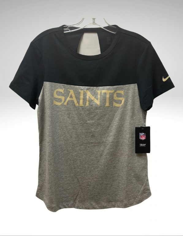 A casual and comfortable shirt that proudly represents your loyalty to the New Orleans Saints. Price: $40. Brand: New era. 100% Cotton