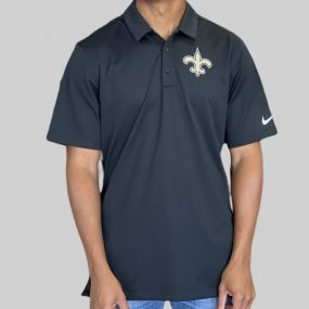 A sophisticated yet sporty polo that proudly represents your loyalty to the New Orleans Saints. Price: $55. Brand: Nike
