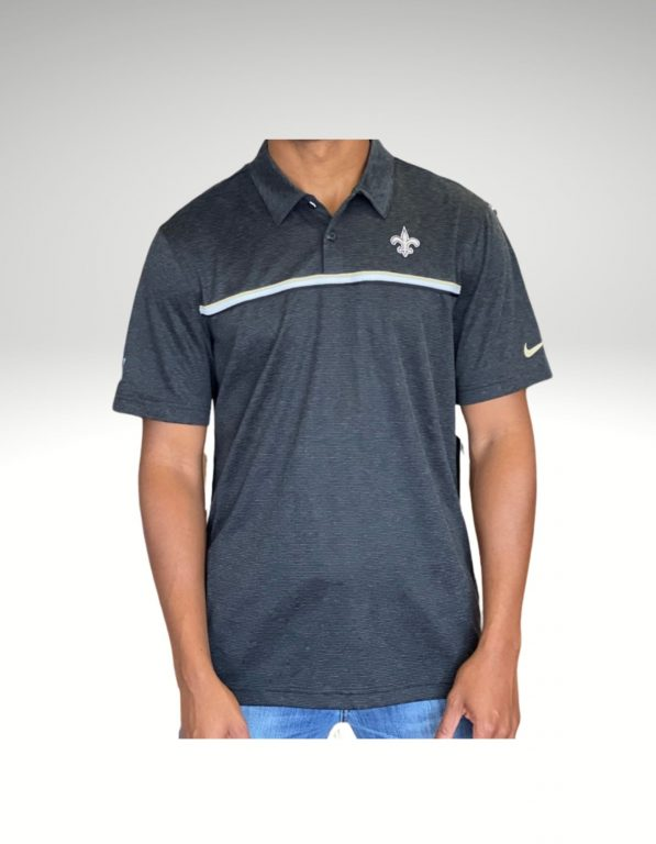 A sophisticated yet sporty polo that proudly represents your loyalty to the New Orleans Saints. Price: $75. Brand: Nike