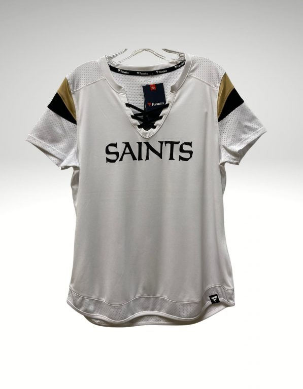 A casual and comfortable shirt that proudly represents your loyalty to the New Orleans Saints. Price: $60. Brand: Fanatics. 100% Polyester