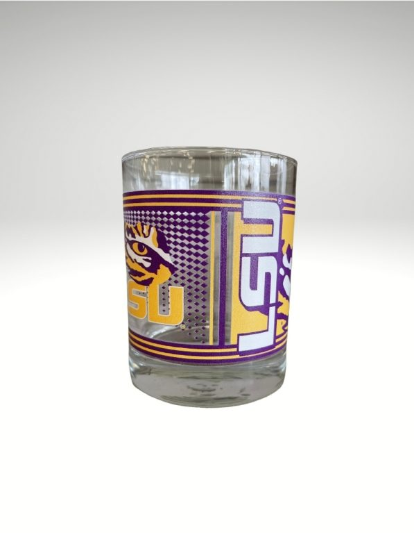 The perfect 14oz to fill with your favorite drink and show your passion for the lsu tigers with the logo and tiger eye imprinted onto the glass.
