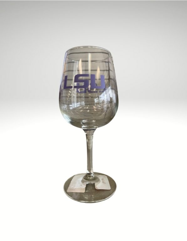 12oz Stemmed Wine Glass. Officially licensed and perfect for spreading your team spirit for the LSU Tigers