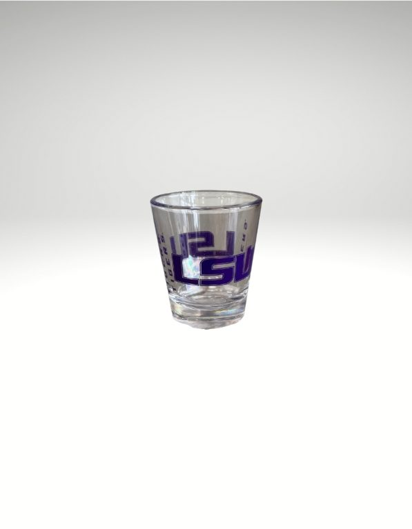 2oz Shot Glass with LSU graphics to celebrate every touchdown!